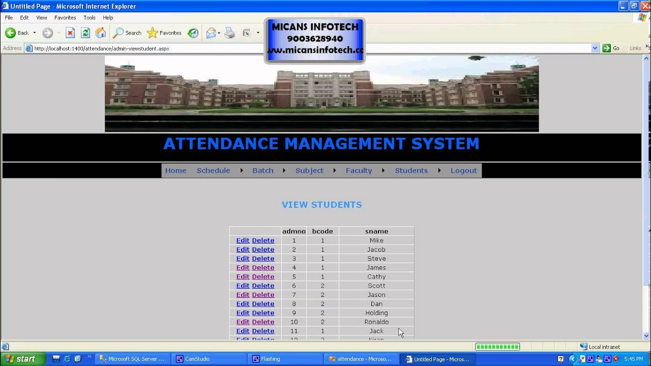 attendance managment system Student attendance management system computer science cse project topics, base paper, synopsis, abstract, report, source code, full pdf, working details for computer science engineering, diploma, btech, be, mtech and msc college students.