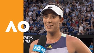 Garbiñe Muguruza on-court interivew (3R) | Australian Open 2020