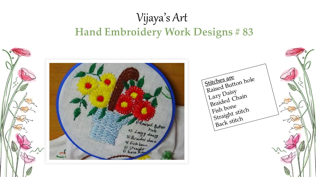Beautiful Hand Embroidery Work Designs # 83 - Design of Raised ...