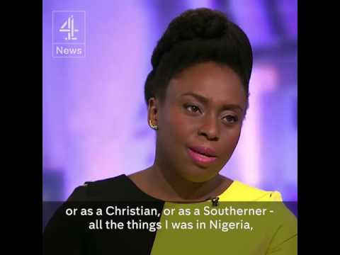 "Chimamanda Ngozi Adichie on race in America ""Race is America's original sin"""