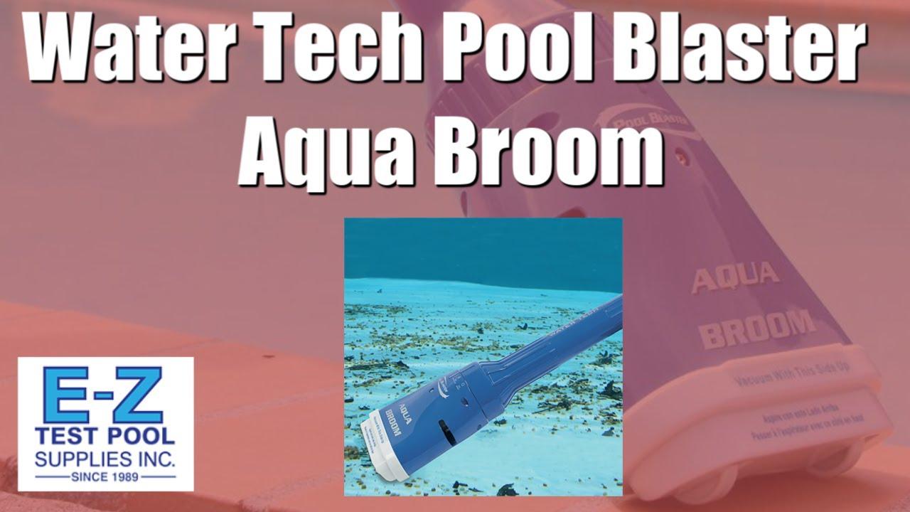 Water Tech Aqua Broom Battery Powered Pool Cleaner Youtube