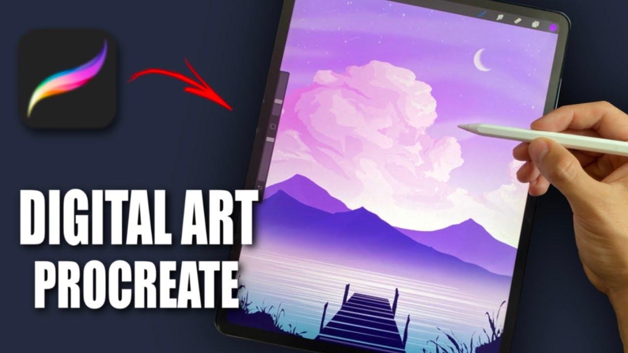 Making Digital Art on iPad (#shorts)