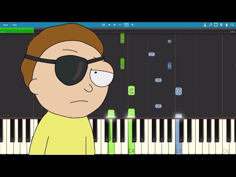 For The Damaged Coda Piano Tutorial - Evil Morty Theme - Rick & Morty - Blonde Redhead