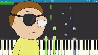 Скачать For The Damaged Coda Piano Tutorial Evil Morty Theme Rick Morty Blonde Redhead