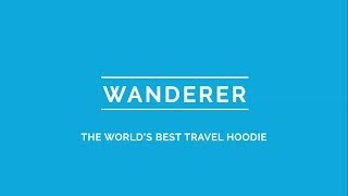 Wanderer - The World's Best Travel Hoodie with 15 Outstanding Features