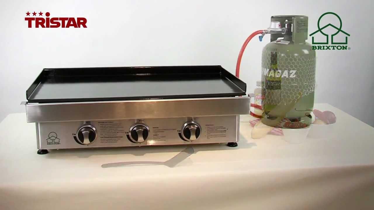 Piastra di cottura a gas 3 bruciatori bq 6391 youtube - Piastra in acciaio inox per cucinare ...