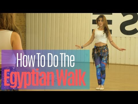 How To Do The Egyptian Walk | How To Belly Dance | Belly Dance Tutorials With Katie Alyce