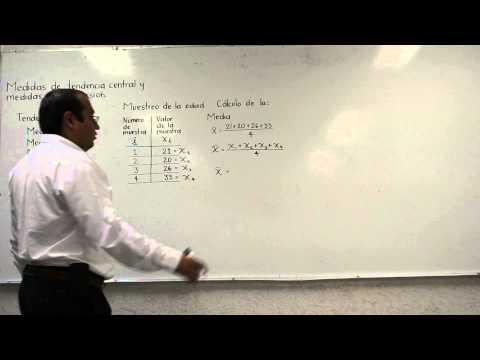 Medidas de tendencia central: Media o promedio: Explicación, cálculo y fórmula