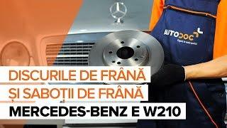 Cum se schimba discurile de frână, placutele de frana din față MERCEDES-BENZ E W210 TUTORIAL