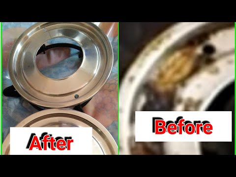 How to clean Cooktop Grates//How To  Clean Gas Stove Grates