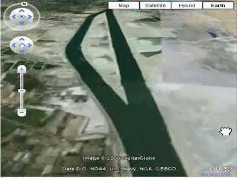 A Google earth Virtual trip over Entire suez canal