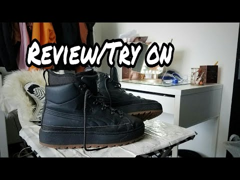 14a618d6caa Puma ren boot review|on feet TRY ON - YouTube