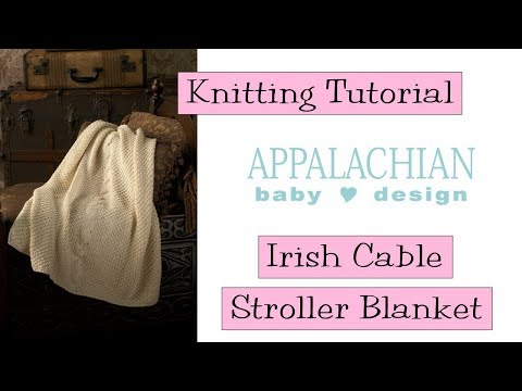 Irish Cable Stroller Blanket