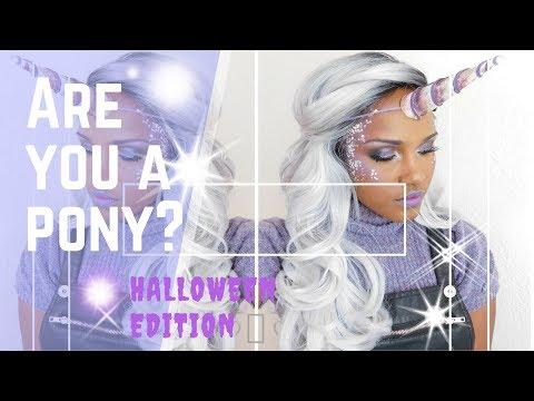 Halloween Unicorn  tutorial BS201 Wig| OT Platinum White