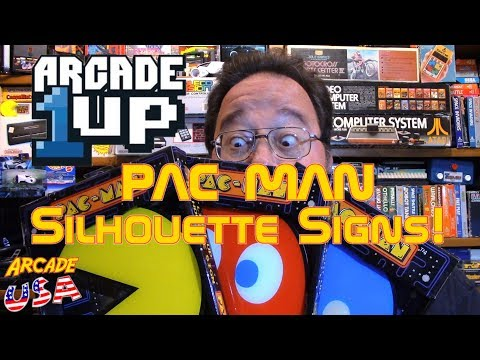 Arcade 1Up Lighted Pac Man Silohuette Signs!