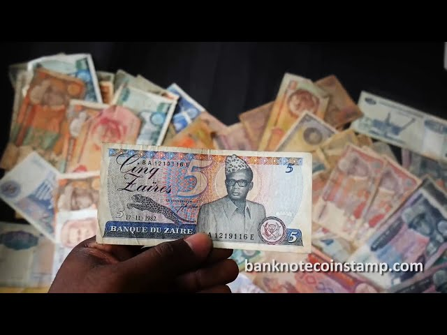 World Used Condition Banknotes Zaire Currency - Part 1