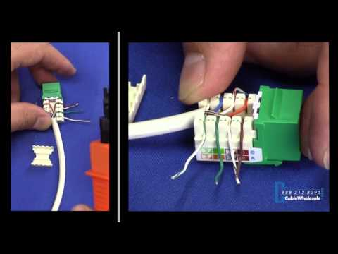 How to Punch Down Your Own Ethernet Keystone - CableWholesale