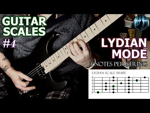 Modes For Guitar #4 | Lydian Mode | Three Notes Per String Scale