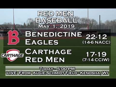 Carthage Baseball Vs. Benedictine Game 2 2019_5_1