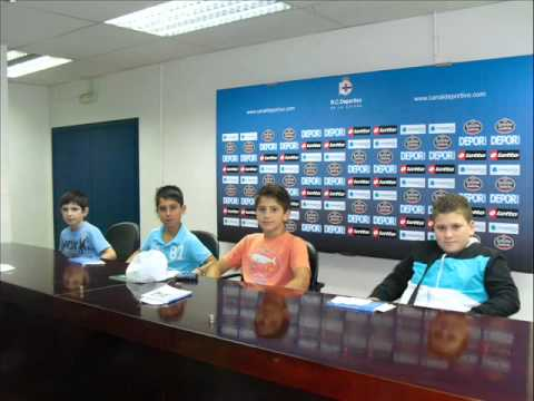 Deportivo De La Coruña 2012 - Vísita dos altelas da ACRD Codeceda ao Estádio Riazor