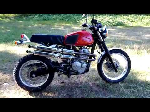 honda slr 650 scrambler youtube. Black Bedroom Furniture Sets. Home Design Ideas
