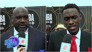 Shaq, Charles Barkley, Pascal Siakam headline the red carpet of the 2019 NBA Awards | Now or Never