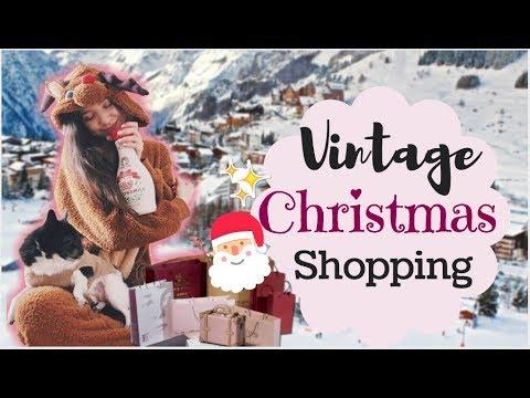 HUGE VINTAGE CHRISTMAS MARKET!! Christmas Shopping & Haul