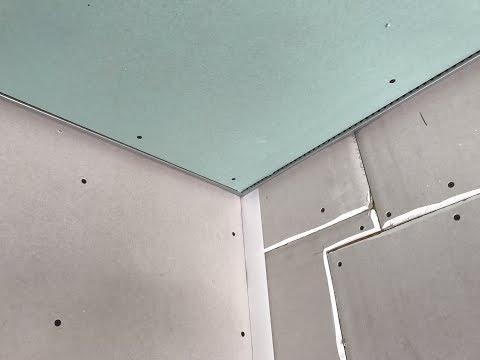 Подвесной потолок  из гипсокартона без примыкания к стенам