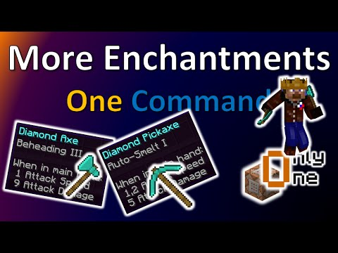 More Enchantments | One Command Creation | TheBalliBoys | (Only one Command)