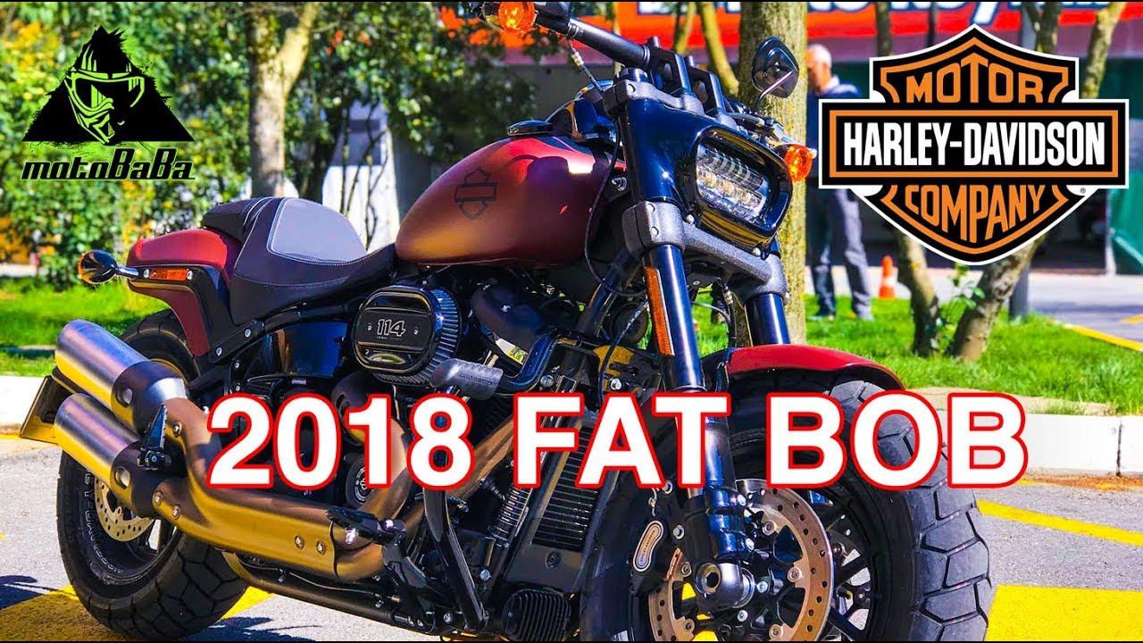 Harley Davidson Fat Bob 114 2018, İlk İzlenim, Motovlog ...