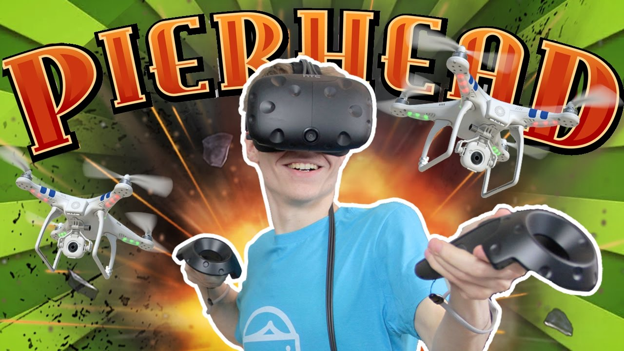 ALMOST KILLED MYSELF WITH A DRONE... | Pierhead Arcade VR #2 (HTC Vive Gameplay)