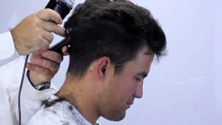 How to cut hair at home with clippers, short sides and layered spiky top.