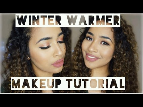 HOW TO: WINTER MAKEUP TUTORIAL | WARM GLITTER SHADES thumbnail