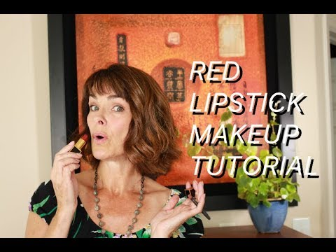 How to do red lipstick on women over 40 from the Beauty Shaman