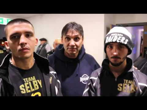 POST FIGHT INTERVIEW - ANDREW SELBY, LEE SELBY, CHRIS SANIGAR, TONY BORG & MR SELBY SNR
