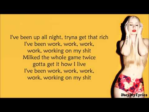 Iggy Azalea  Work Lyrics Video