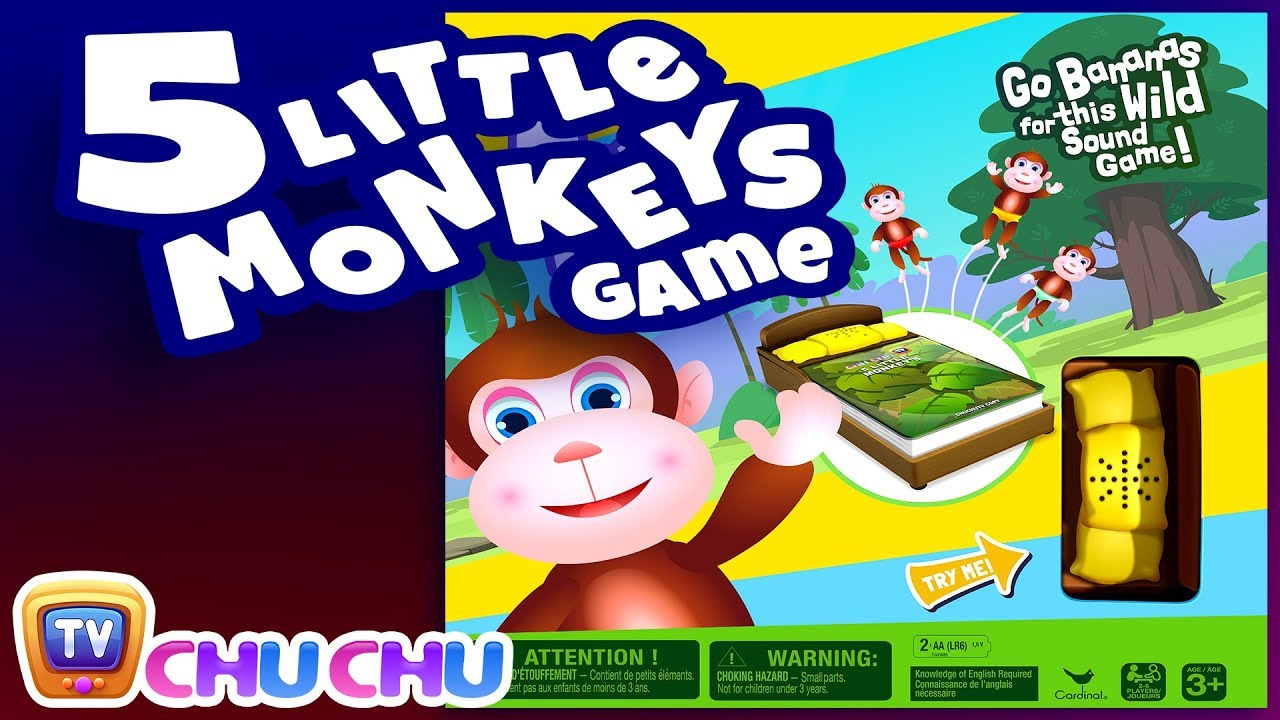 ChuChu TV Five Little Monkeys Game - Available in Amazon, Walmart and Target in the USA