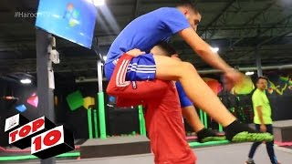 Top 10 WWE Moves At The Trampoline Park