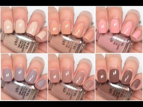 China Glaze - Shades of Nude | Swatch and Review - YouTube