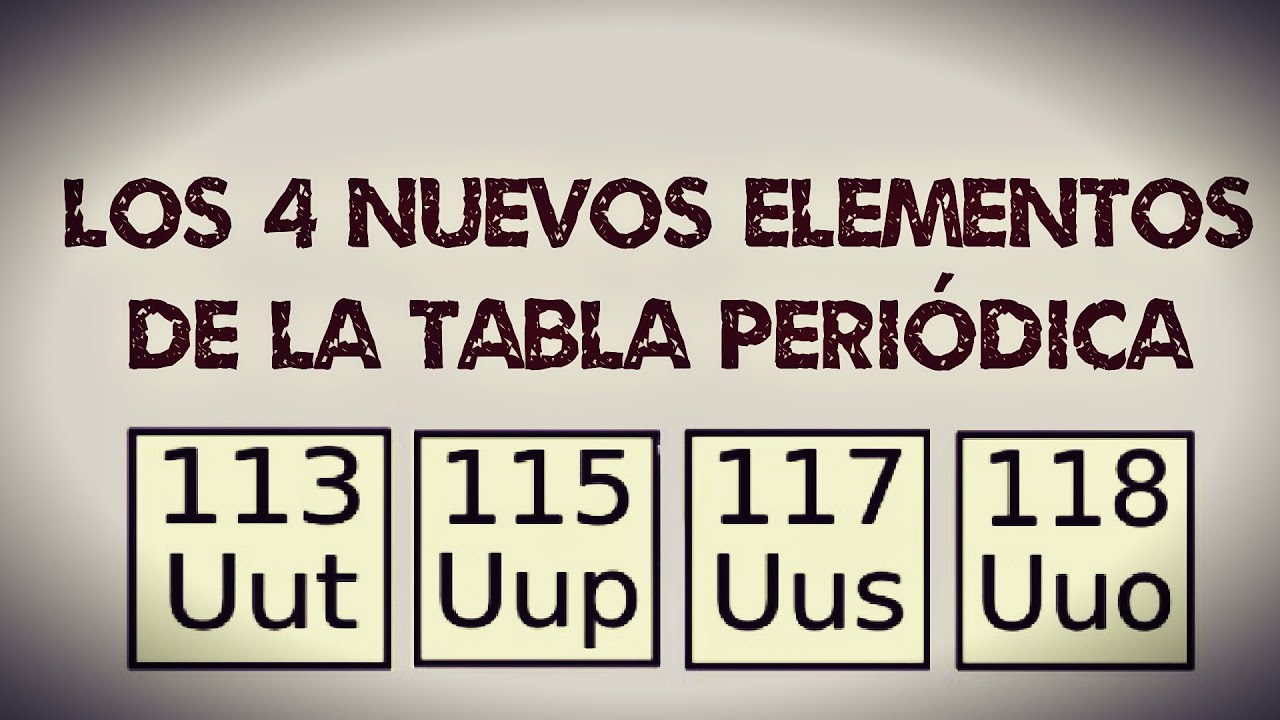 4 nuevos elementos aadidos a la tabla periodica 2016 youtube urtaz Image collections