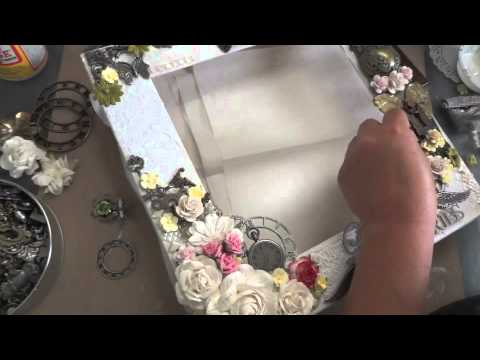 12x12 Mixed Media Altered Shadow Box Layout - Tutorial Part 1 of 2