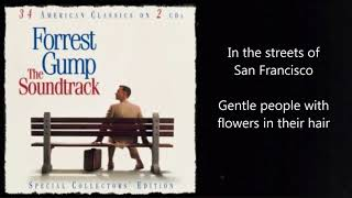 San Francisco - Scott McKenzie (lyrics) (Forrest Gump)