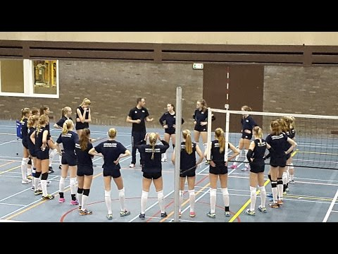 Jeugd Oranje meisjes '00-'01 26-1-2016 training op Papendal