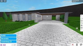 SuperMegaRichKid Roblox Bloxburg Easy Modern house build (15K-No Gamepass, Non Furnished)