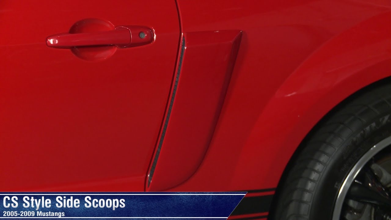 Mustang Hood Scoop >> Mustang CS Style Side Scoops - Pre-painted (05-09 All) Review - YouTube