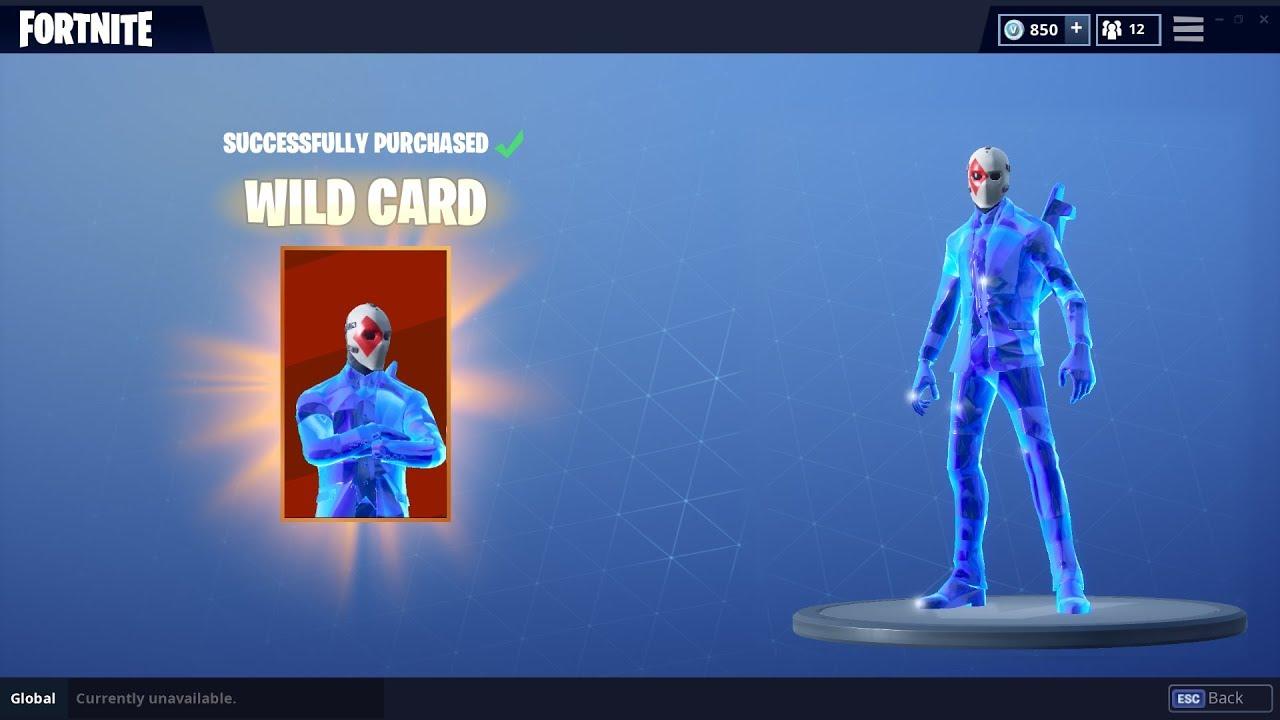 crystal wildcard skin gameplay fortnite battle royale - fortnite cristal