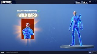 CRYSTAL WILDCARD SKIN GAMEPLAY - Fortnite Battle Royale