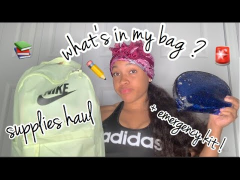 DOLLAR TREE BACK TO SCHOOL SUPPLIES HAUL | WHATS IN MY BOOK BAG ?🎒📚✏️