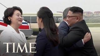 Kim Jong Un Greets Moon Jae-In For Third Korean Summit In Pyongyang | TIME