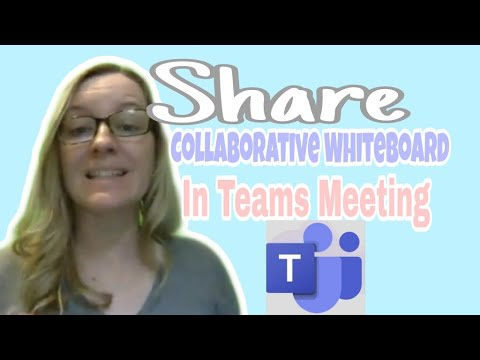 Share Collaborative Whiteboard In Teams Meeting